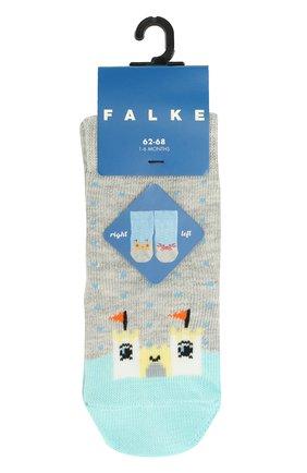 Детские носки с принтом FALKE серого цвета, арт. 12124 | Фото 1