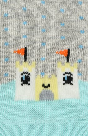 Детские носки с принтом FALKE серого цвета, арт. 12124 | Фото 2