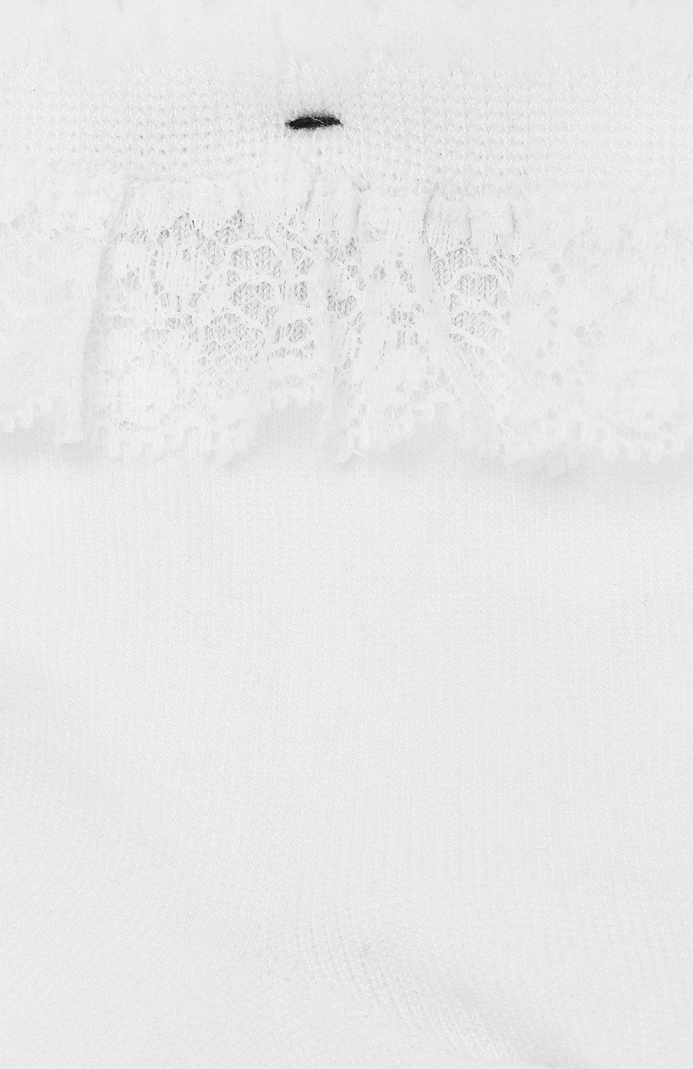 Детские носки с кружевной оборкой FALKE белого цвета, арт. 12141 | Фото 2