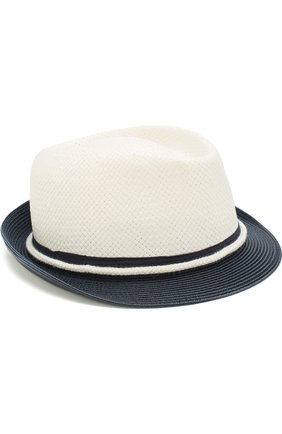 Детская шляпа с контрастными полями ARMANI JUNIOR белого цвета, арт. 404560/8P522 | Фото 1