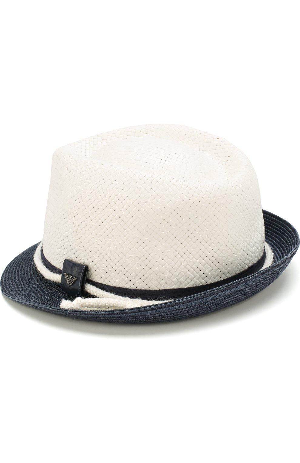 Детская шляпа с контрастными полями ARMANI JUNIOR белого цвета, арт. 404560/8P522 | Фото 2