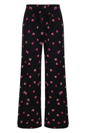 Хлопковые расклешенные брюки с принтом | Фото №1