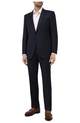 Мужская хлопковая сорочка CANALI кремвого цвета, арт. 705/GA60135 | Фото 2 (Длина (для топов): Стандартные; Рукава: Длинные; Материал внешний: Хлопок; Принт: Без принта, Однотонные; Воротник: Акула; Случай: Формальный; Рубашки М: Regular Fit; Манжеты: На пуговицах)