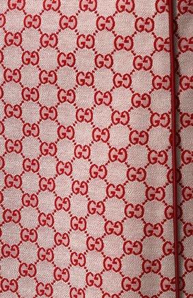 Женская хлопковая юбка-миди с логотипом бренда GUCCI красного цвета, арт. 512875/ZKD86   Фото 5