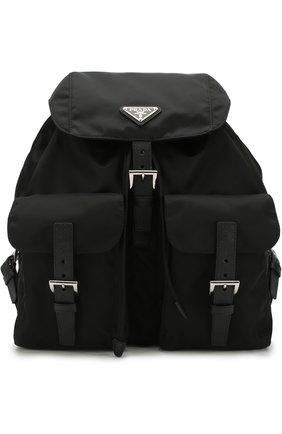 Женский рюкзак из текстиля PRADA черного цвета, арт. 1BZ811-V44-F0002-OOO | Фото 1