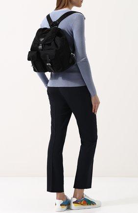 Женский рюкзак из текстиля PRADA черного цвета, арт. 1BZ811-V44-F0002-OOO | Фото 2