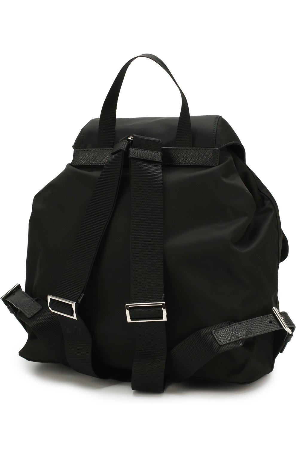 Женский рюкзак из текстиля PRADA черного цвета, арт. 1BZ811-V44-F0002-OOO | Фото 3