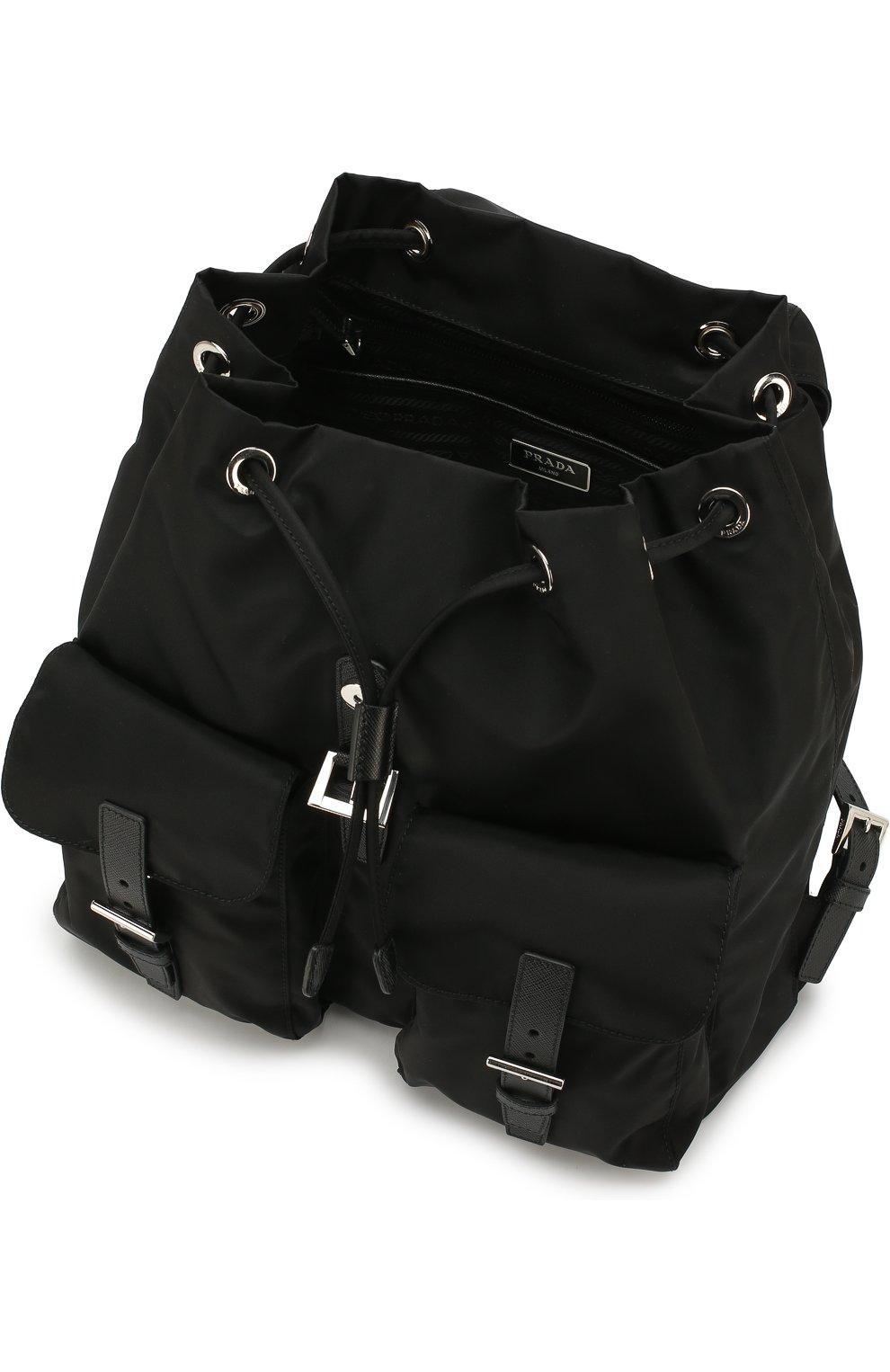 Женский рюкзак из текстиля PRADA черного цвета, арт. 1BZ811-V44-F0002-OOO | Фото 4
