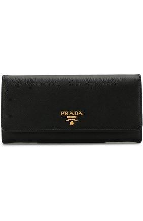 Кожаный кошелек с логотипом бренда и кардхолдером | Фото №1