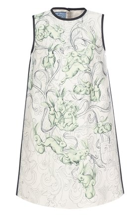 Мини-платье А-силуэта с принтом | Фото №1