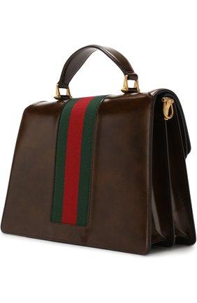 Женская сумка-тоут из кожи medium GUCCI коричневого цвета, арт. 513138/0LBCT   Фото 3