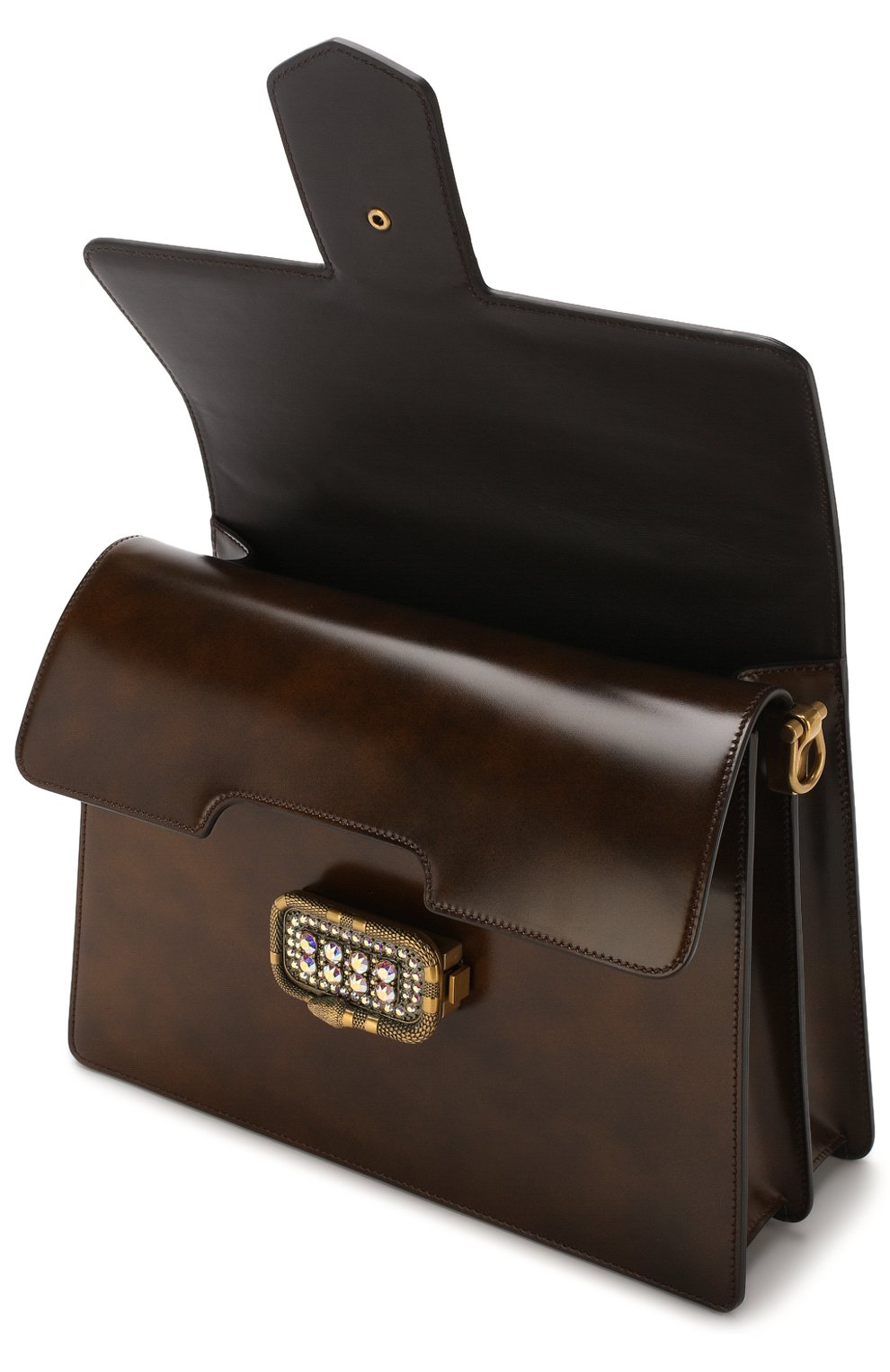 Женская сумка-тоут из кожи medium GUCCI коричневого цвета, арт. 513138/0LBCT   Фото 4