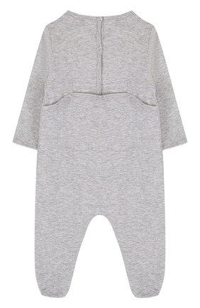 Детский хлопковая пижама с принтом GUCCI серого цвета, арт. 497847/X3L91 | Фото 2