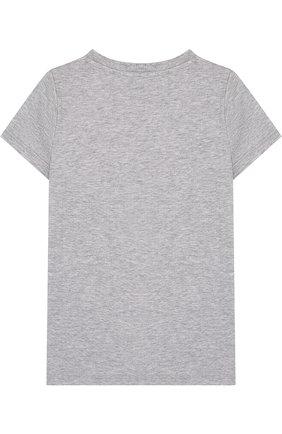 Детская хлопковая футболка с принтом GUCCI серого цвета, арт. 503646/X3L05 | Фото 2