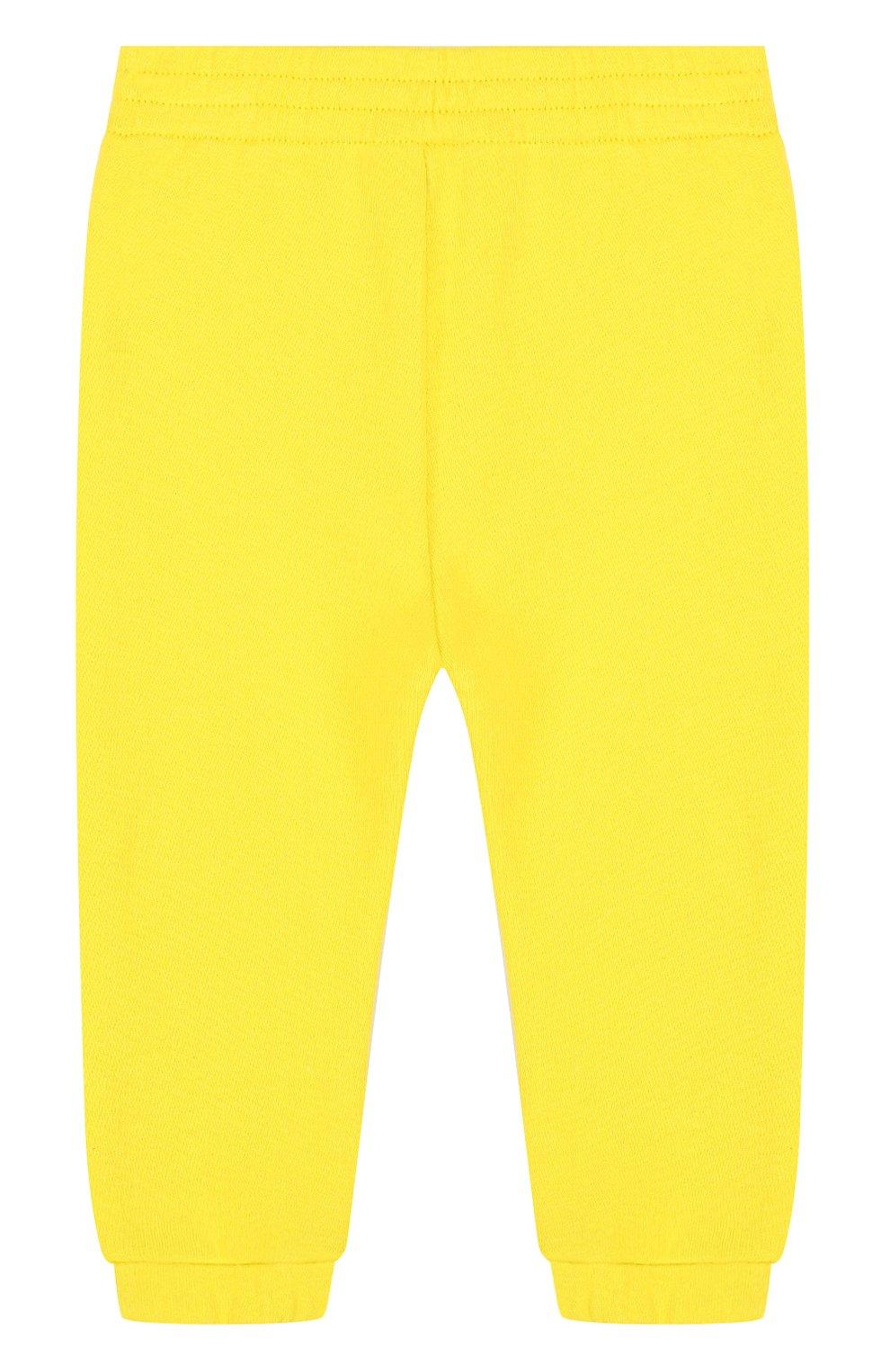 Детские хлопковые джоггеры с логотипом бренда GUCCI желтого цвета, арт. 509179/X3L00 | Фото 2