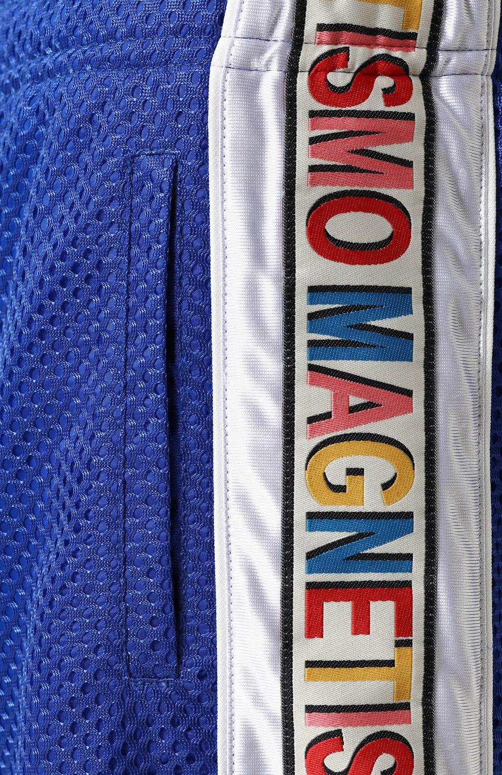 Мужские шорты свободного кроя с поясом на резинке GUCCI синего цвета, арт. 519486/X9S85 | Фото 5