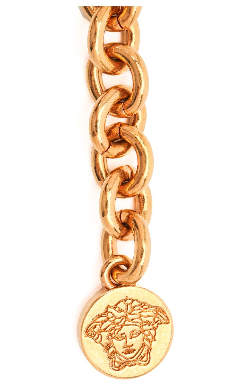 Женское колье tribute meduse VERSACE золотого цвета, арт. DG3G402/DJMT | Фото 3