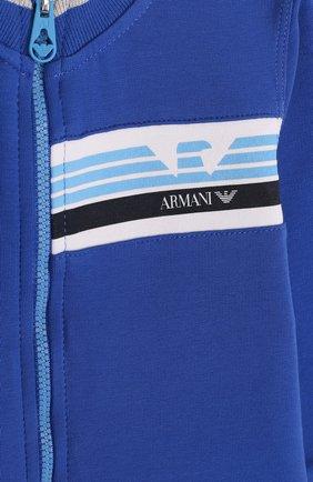 Детский хлопковый костюм из брюк и кардигана ARMANI JUNIOR синего цвета, арт. 3ZHV02/4J23Z | Фото 7