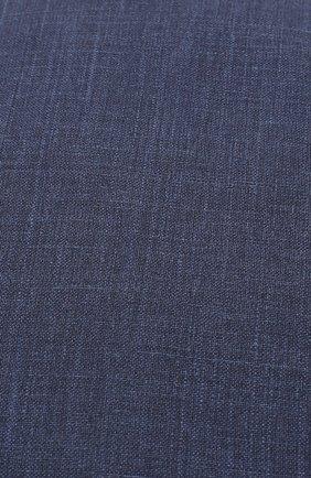 Мужская кепи из смеси шерсти и шелка со льном LUCIANO BARBERA темно-синего цвета, арт. 128001/46079 | Фото 3