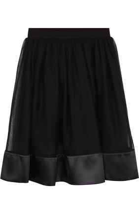 Детская многослойная юбка с отделкой ANGEL'S FACE черного цвета, арт. ELLIE/8-9 | Фото 2