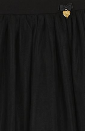 Детская многослойная юбка с отделкой ANGEL'S FACE черного цвета, арт. ELLIE/8-9 | Фото 3