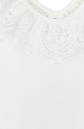 Детский топ джерси с кружевной отделкой и открытыми плечами ANGEL'S FACE белого цвета, арт. LUCILLE/8-9 | Фото 3