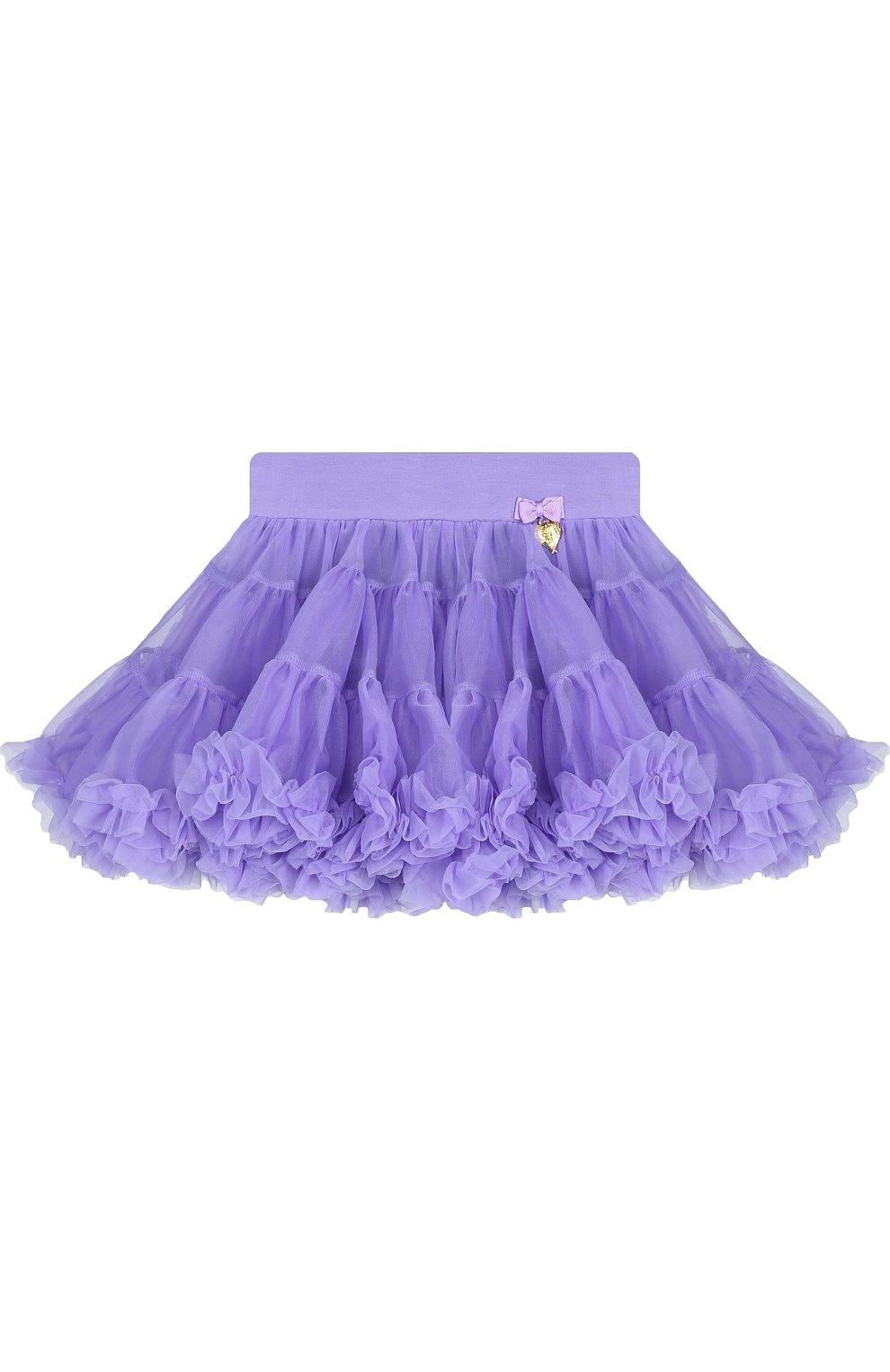 Детская многослойная мини-юбка свободного кроя с оборкой ANGEL'S FACE фиолетового цвета, арт. SKIRT/CHARMTUTU/2-7 | Фото 1