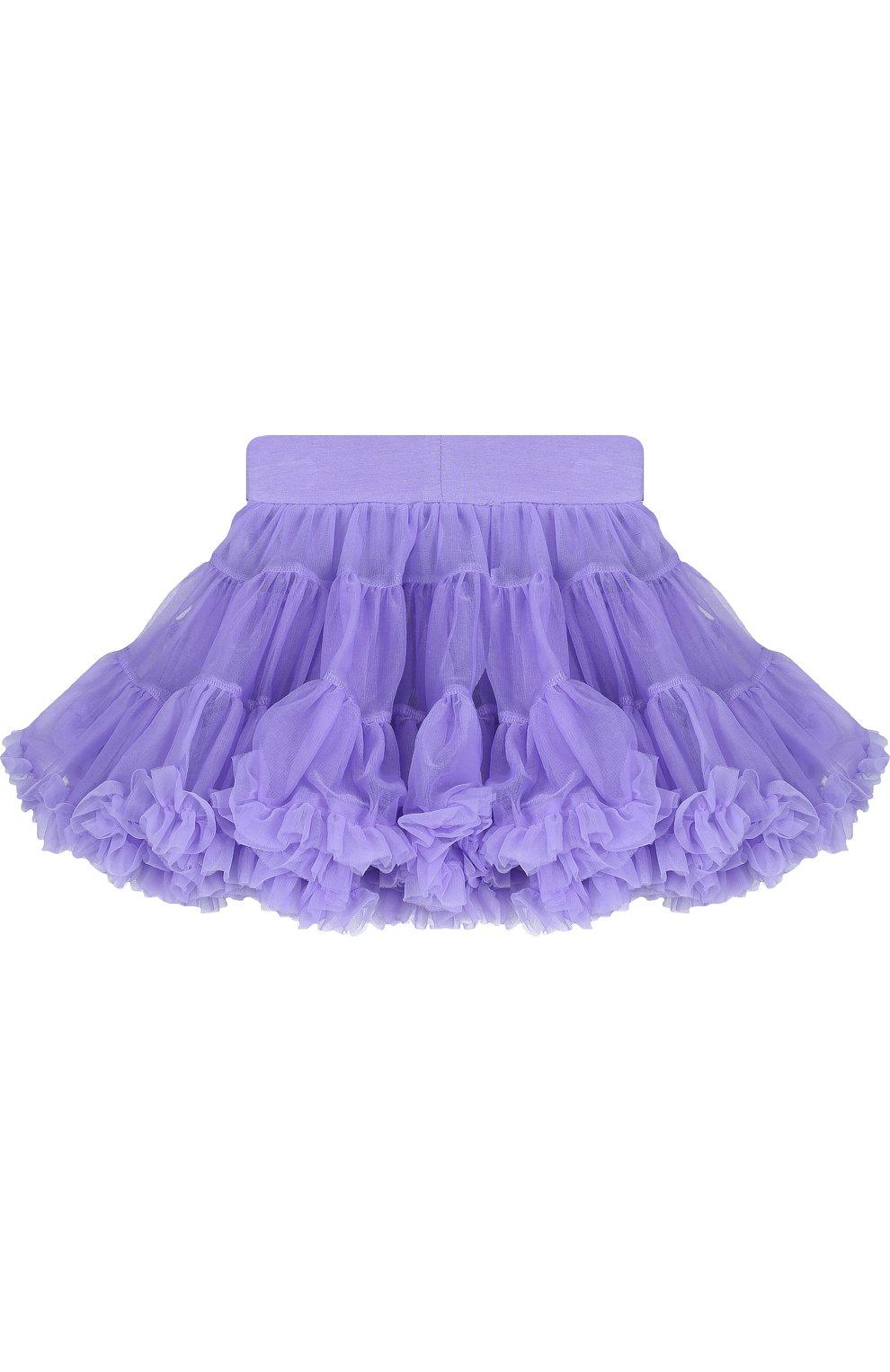 Детская многослойная мини-юбка свободного кроя с оборкой ANGEL'S FACE фиолетового цвета, арт. SKIRT/CHARMTUTU/2-7 | Фото 2
