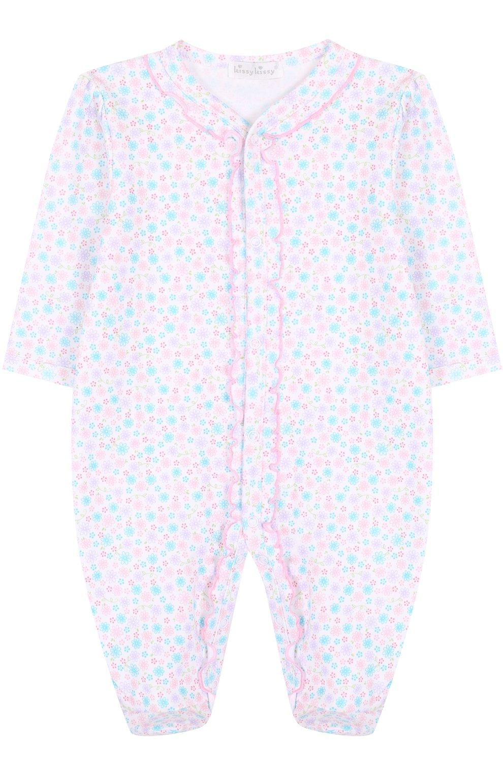 Детский хлопковая пижама с принтом KISSY KISSY разноцветного цвета, арт. S1845604 | Фото 1