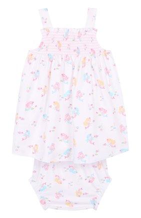 Хлопковый комплект из платья и трусов | Фото №2