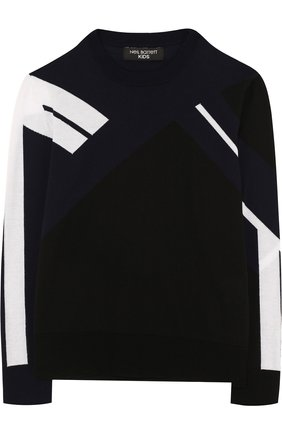 Хлопковый пуловер с контрастным принтом | Фото №1