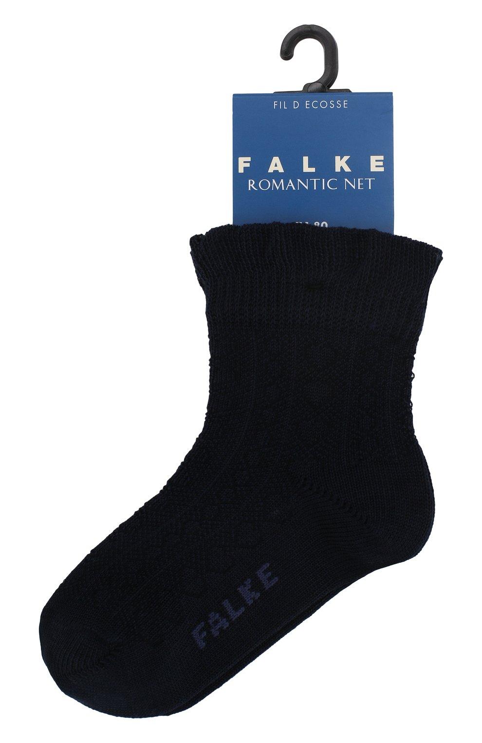 Детские хлопковые носки FALKE темно-синего цвета, арт. 12120 | Фото 1