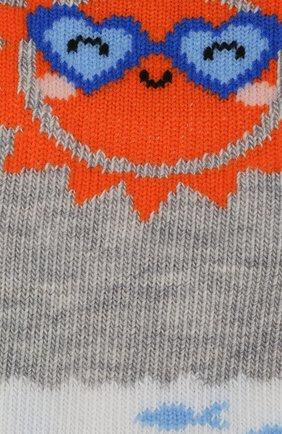 Детские носки с принтом FALKE серого цвета, арт. 12122 | Фото 2