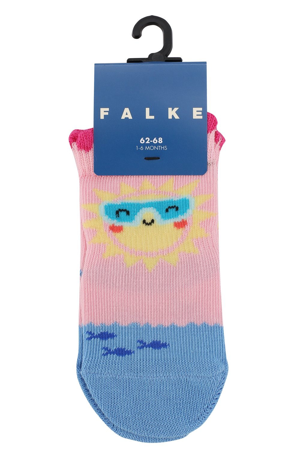Детские носки с принтом FALKE светло-розового цвета, арт. 12122   Фото 1