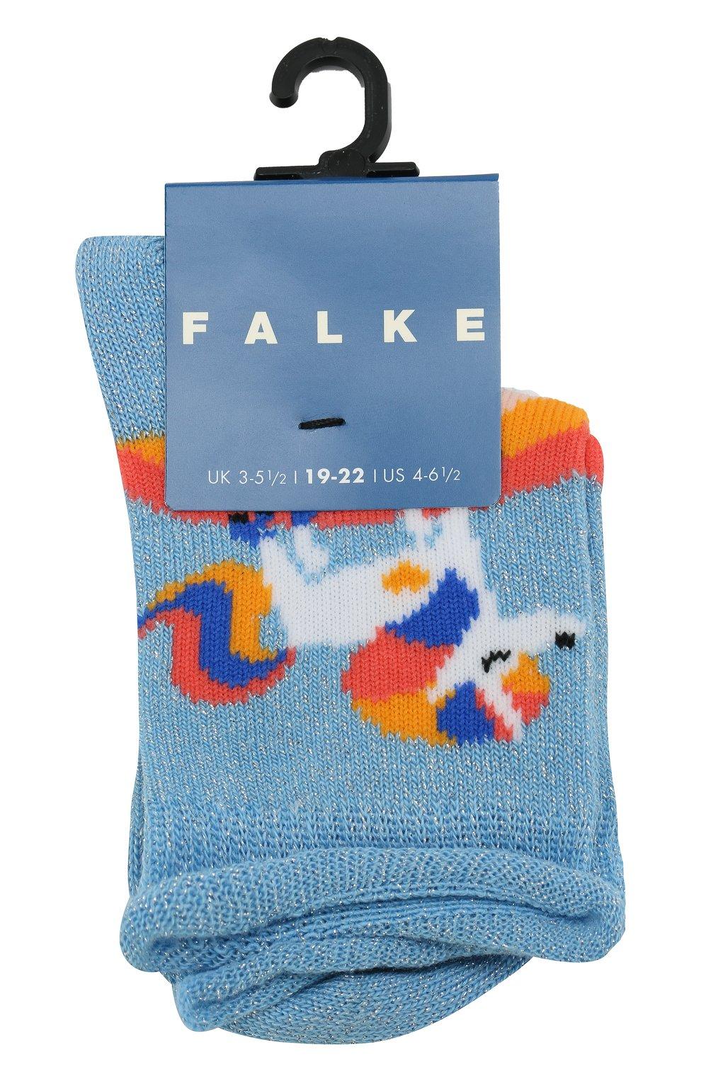 Детские носки с принтом FALKE голубого цвета, арт. 12146 | Фото 1