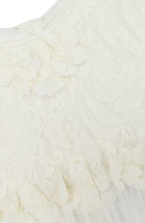 Детское многослойное платье из шелка и полиамида с кружевной отделкой RHEA COSTA бежевого цвета, арт. BBY031/10-14   Фото 3
