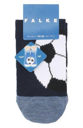 Детские носки с принтом FALKE темно-синего цвета, арт. 12075 | Фото 1