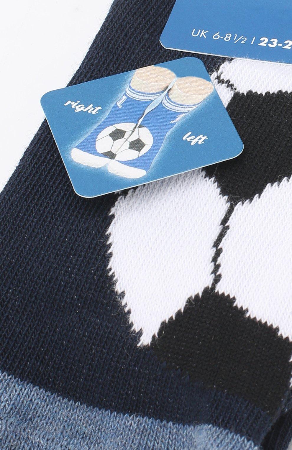 Детские носки с принтом FALKE темно-синего цвета, арт. 12075 | Фото 2