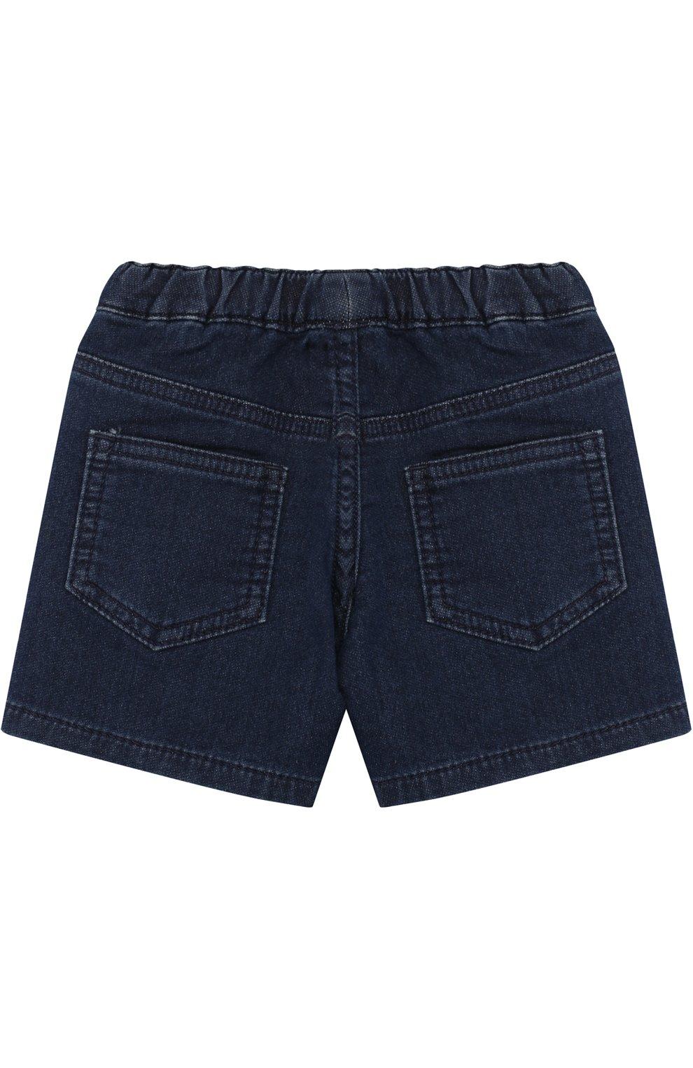 Джинсовые шорты с аппликациями | Фото №2