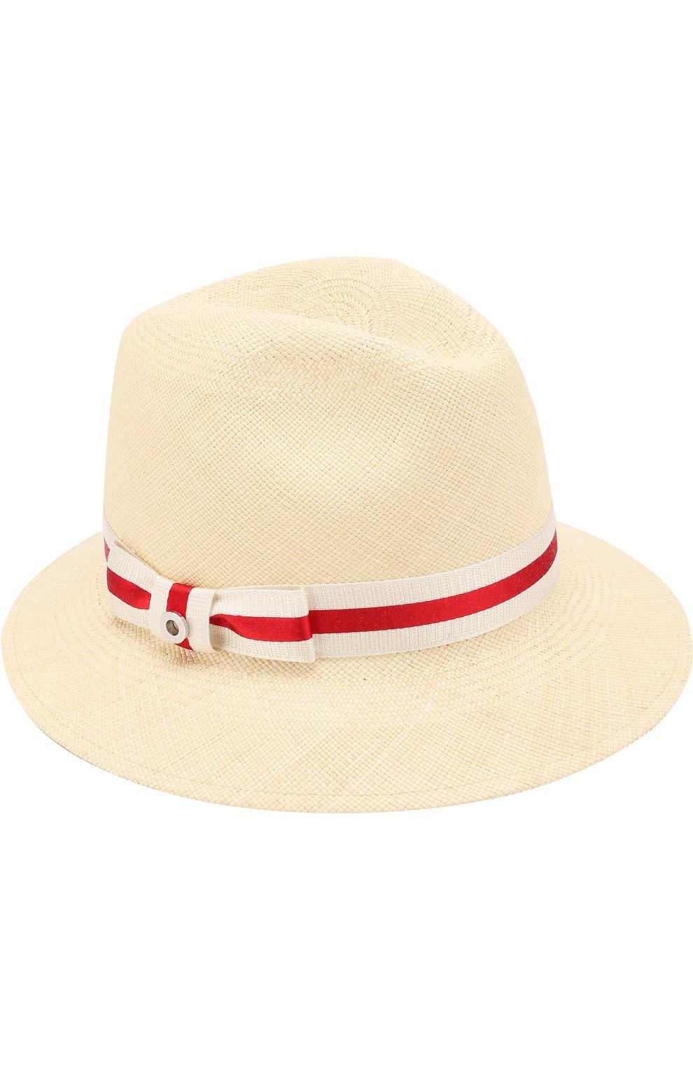 Женская соломенная шляпа ingrid с лентой LORO PIANA кремвого цвета, арт. FAI1527 | Фото 1