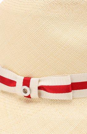 Женская соломенная шляпа ingrid с лентой LORO PIANA кремвого цвета, арт. FAI1527 | Фото 3