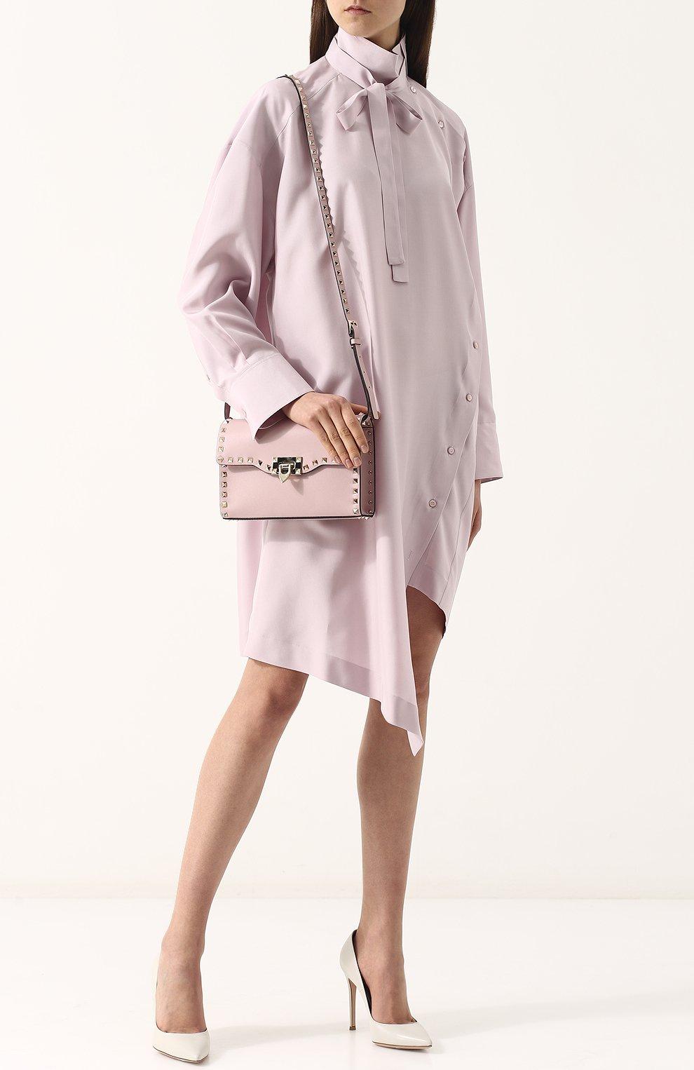 Женская сумка valentino garavani rockstud spike medium VALENTINO светло-розового цвета, арт. PW0B0181/WCI | Фото 2