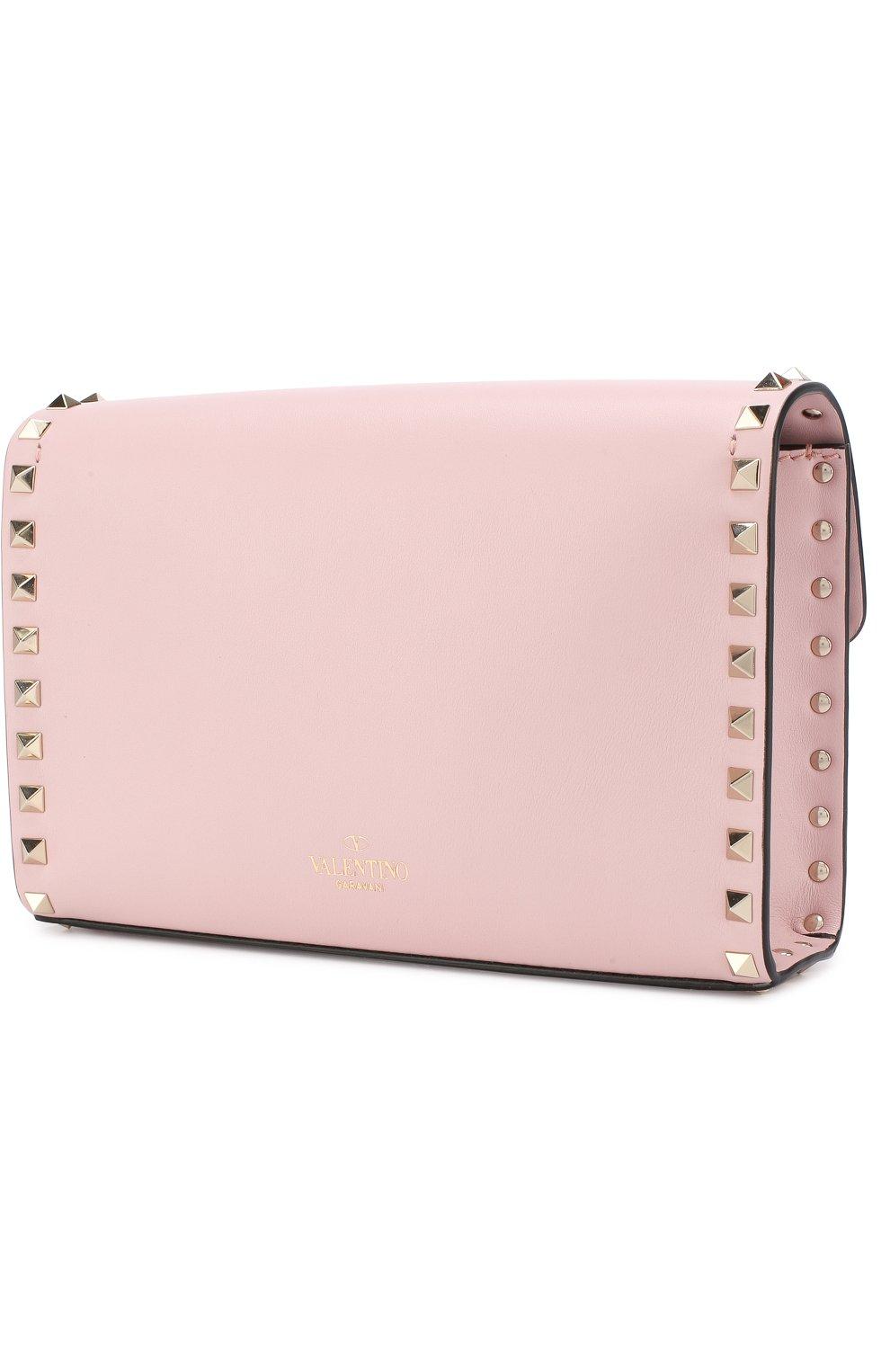 Женская сумка valentino garavani rockstud spike medium VALENTINO светло-розового цвета, арт. PW0B0181/WCI | Фото 3