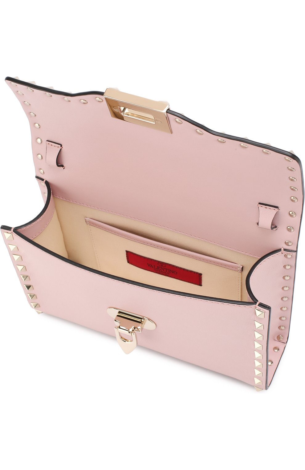 Женская сумка valentino garavani rockstud spike medium VALENTINO светло-розового цвета, арт. PW0B0181/WCI | Фото 4