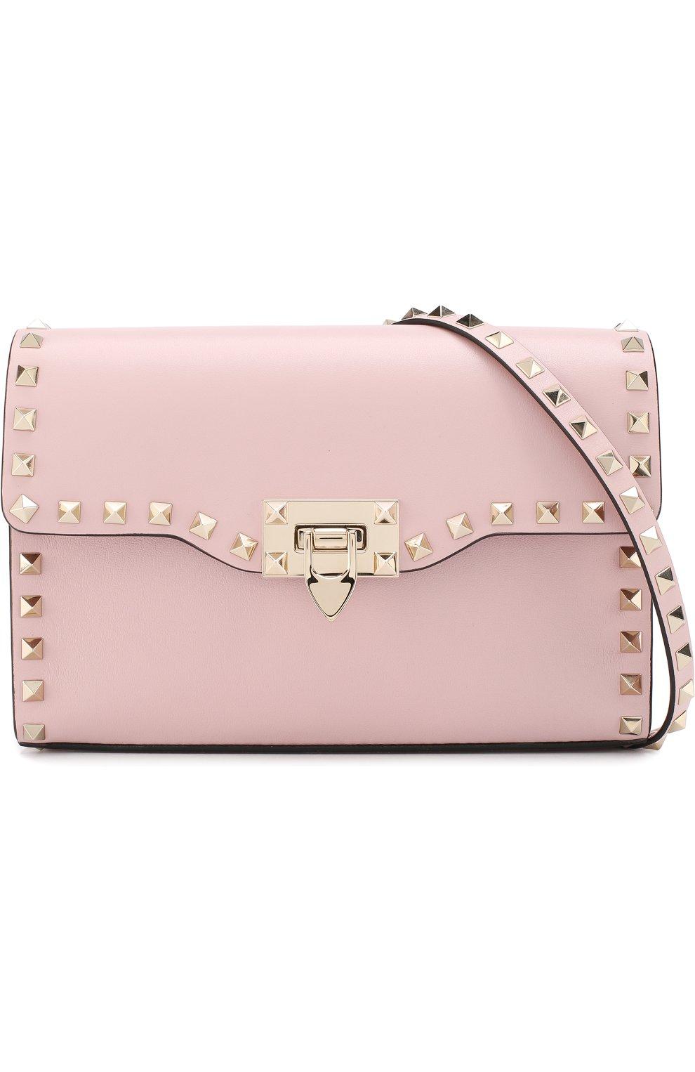 Женская сумка valentino garavani rockstud spike medium VALENTINO светло-розового цвета, арт. PW0B0181/WCI | Фото 5