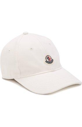 Детская бейсболка с логотипом бренда MONCLER ENFANT белого цвета, арт. D1-954-00121-05-04863 | Фото 1
