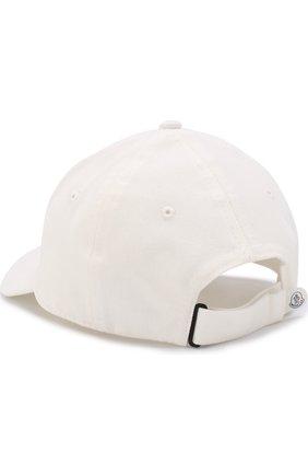 Детская бейсболка с логотипом бренда MONCLER ENFANT белого цвета, арт. D1-954-00121-05-04863 | Фото 2
