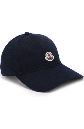 Детская бейсболка с логотипом бренда MONCLER ENFANT темно-синего цвета, арт. D1-954-00121-05-04863 | Фото 1