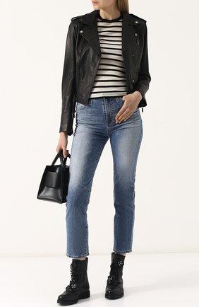 Женские кожаные ботинки havana с внутренней меховой отделкой  JIMMY CHOO черного цвета, арт. HAVANA FLAT/0FQ | Фото 2