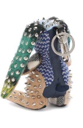 Кашемировый брелок Vera с металлическими заклепками | Фото №2